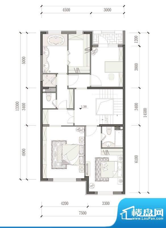 万通天竺新新家园·萨丁堡户型面积:287.00平米