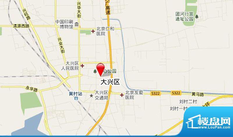 cago寓所交通图-地图截取