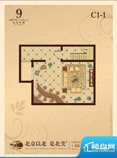 宽沟玖号院C1-1户型图 1厅面积:107.00平米