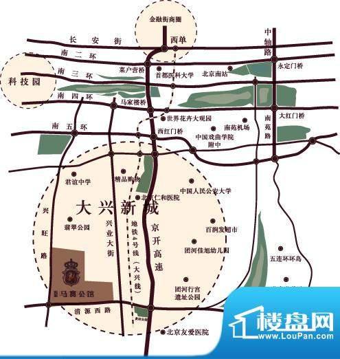 东亚马赛公馆交通图