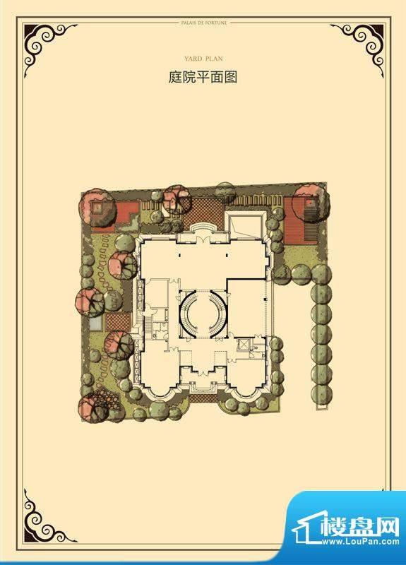 财富公馆·御河城堡h3庭院平面