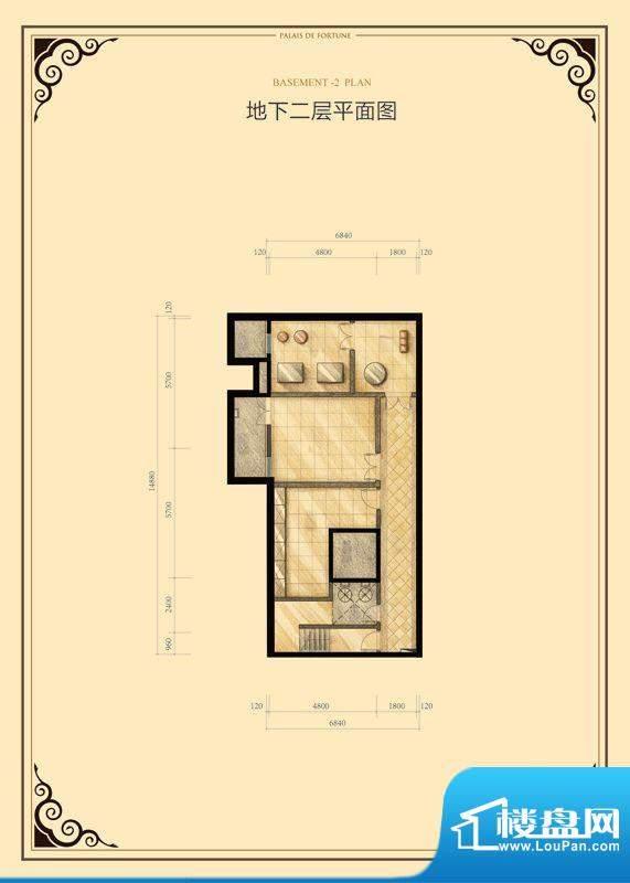 财富公馆·御河城堡b1-18地下二面积:103.00平米