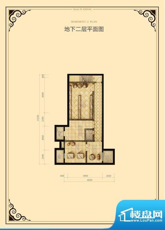 财富公馆·御河城堡b1-12地下二面积:103.00平米