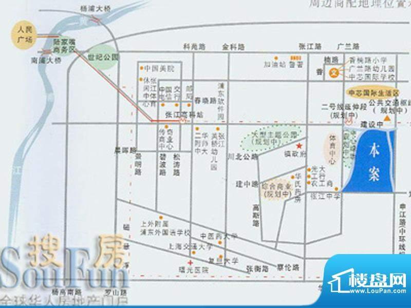 阳光花城交通图