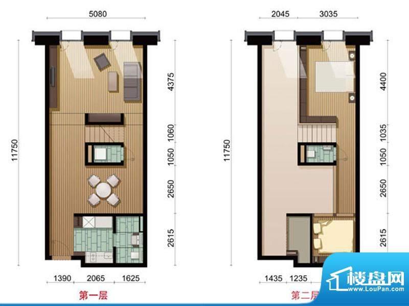 COCO MOMAB户型 2室2厅1卫1厨面积:110.93平米