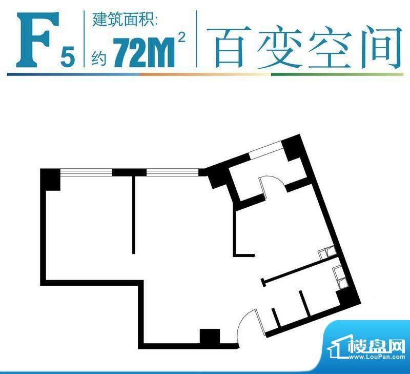 马可汇F5-01户型图 2室1厅1卫1面积:72.00平米
