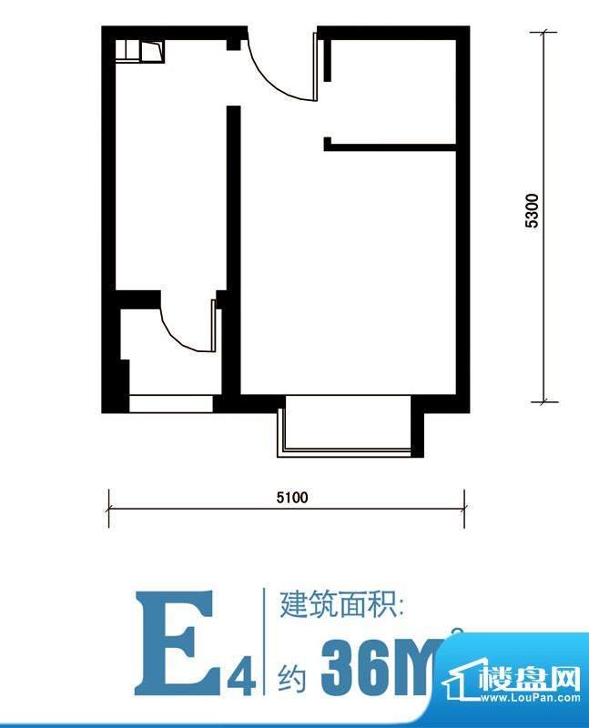 马可汇E4-cs2-01户型图 1室1卫面积:36.00平米