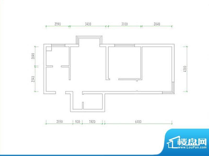 新城·康居映像2居户型图 2室2面积:85.00平米