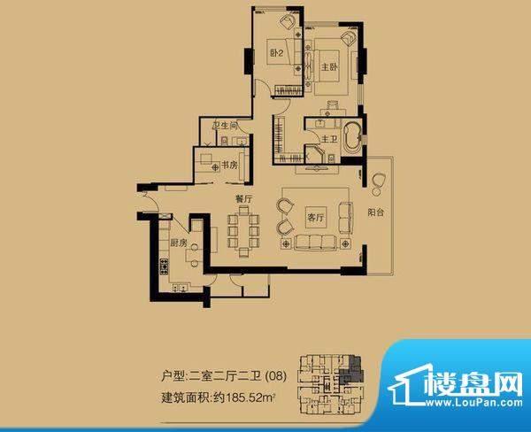世茂宫园 0室 户型图