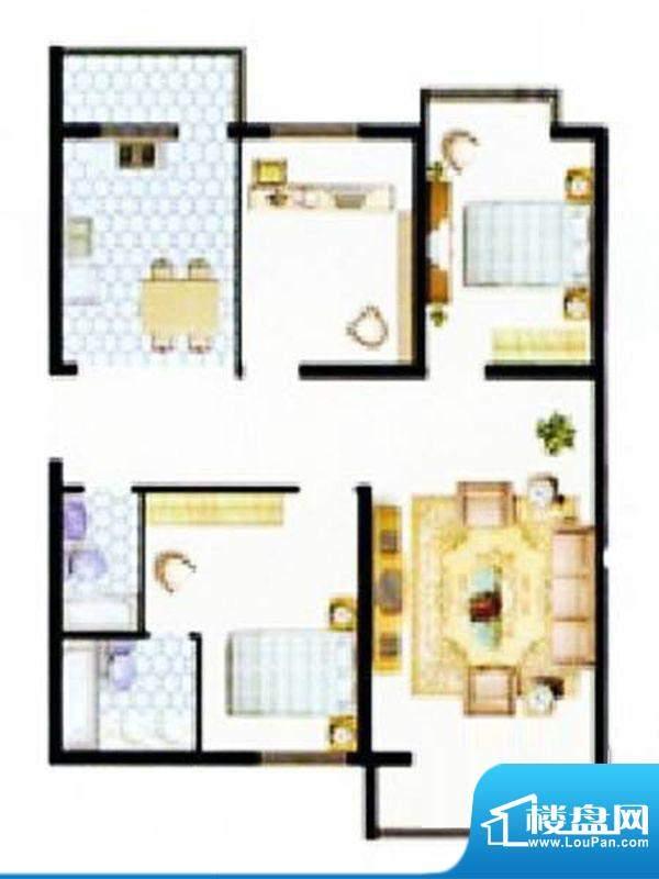 吉祥家园三居户型图 3室2厅2卫面积:125.00平米