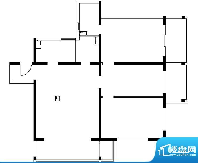 铂晶豪庭F1户型 3室2厅2卫1厨面积:138.00平米