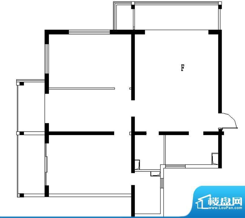 铂晶豪庭F户型 3室2厅2卫1厨面积:143.00平米