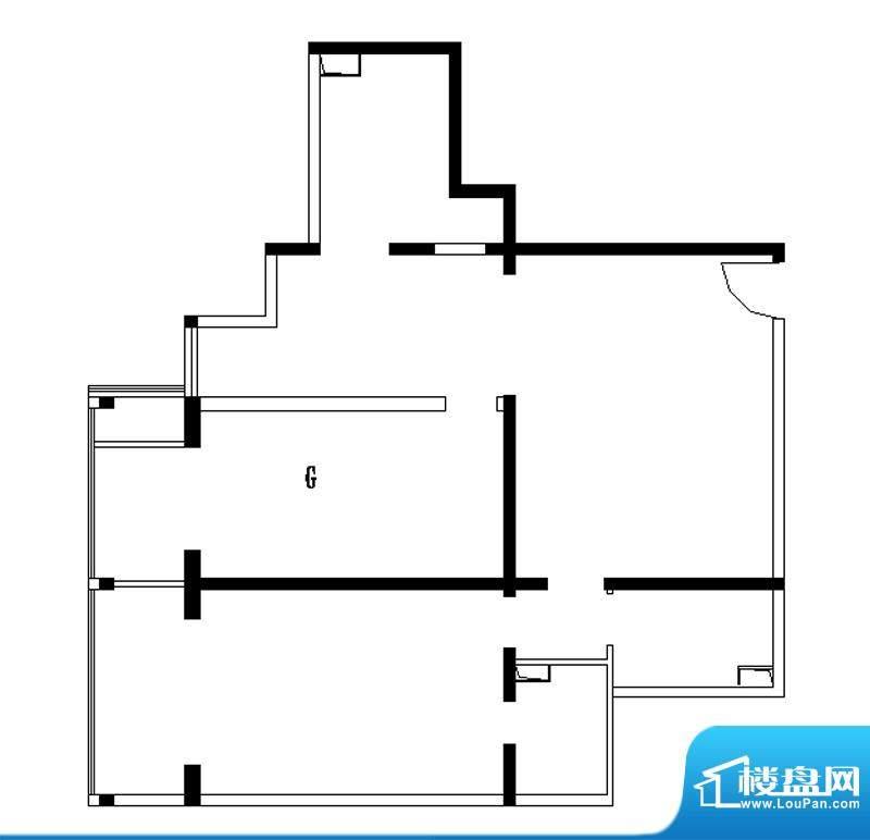 铂晶豪庭G户型 2室2厅2卫1厨面积:154.00平米