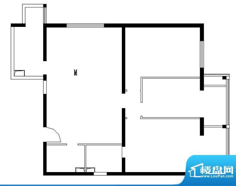 铂晶豪庭M户型 3室2厅2卫1厨面积:140.00平米