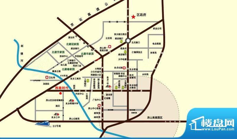 西路时代大厦交通图