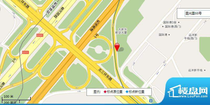 三元国际公寓交通图