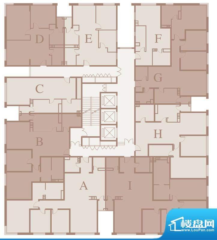 三元国际公寓平层户型图