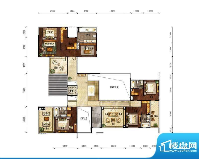 富力湾·半岛别墅B2二层-反户型