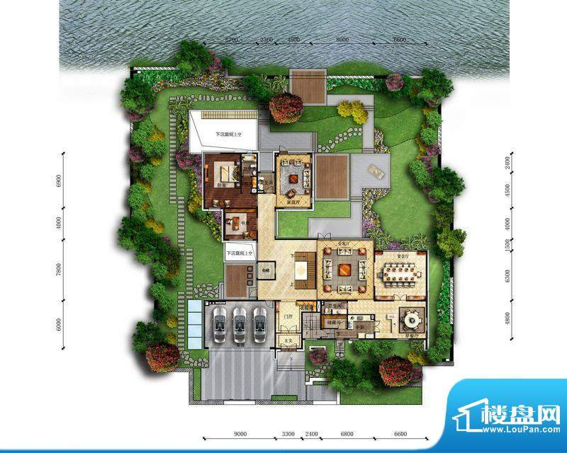富力湾·半岛别墅B2一层-反户型