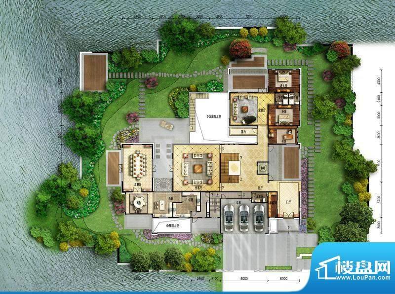 富力湾·半岛别墅A2一层-1户型