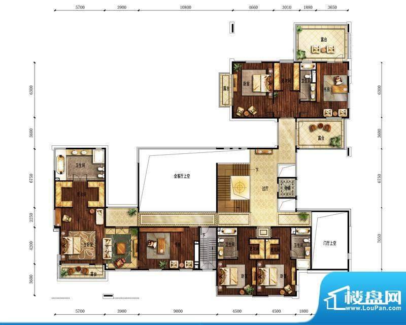 富力湾·半岛别墅A2二层户型图