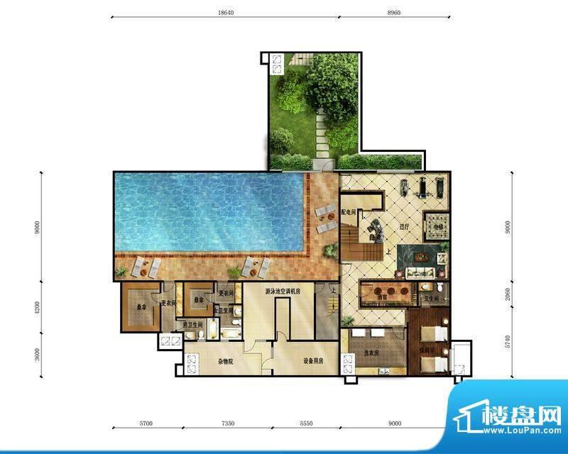 富力湾·半岛别墅A2地下一层户