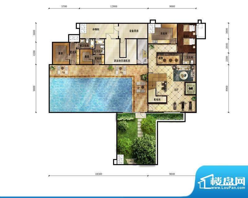 富力湾·半岛别墅A1地下一层户