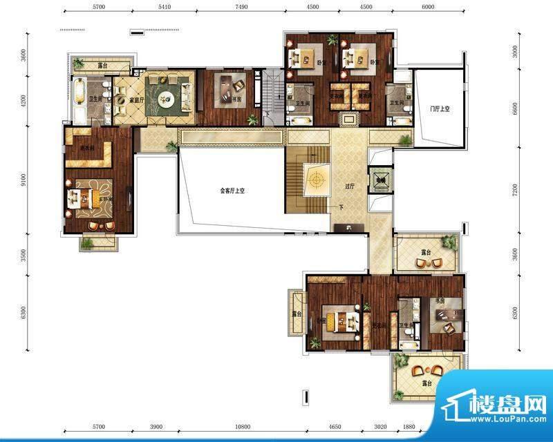 富力湾·半岛别墅A1二层-1户型