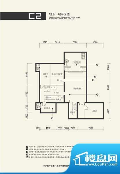 富力湾·半岛别墅C2地下一层户