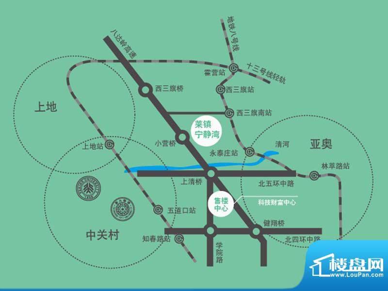 莱镇宁静湾交通图