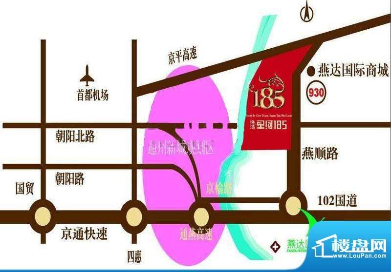 星河185交通图