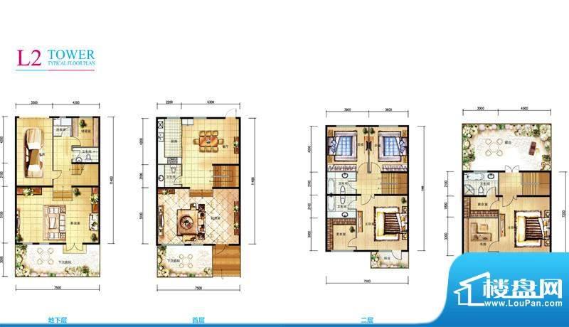 亲密别墅L2户型折页 4室2厅5卫