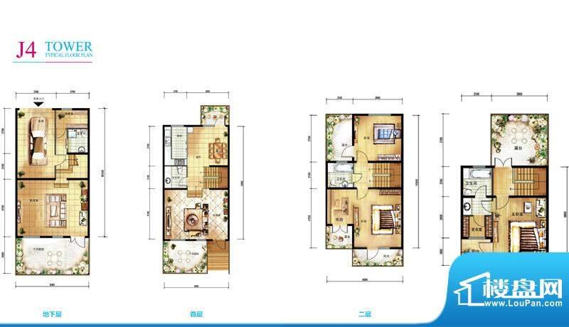 亲密别墅J4户型折页 3室2厅4卫