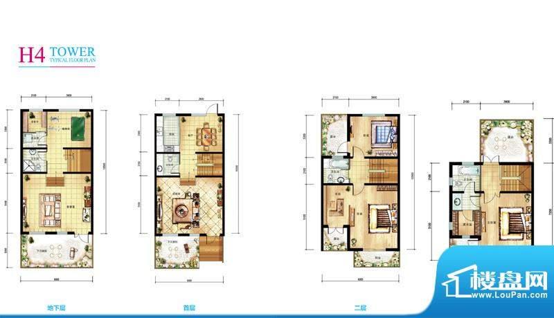 亲密别墅H4户型折页 3室2厅4卫
