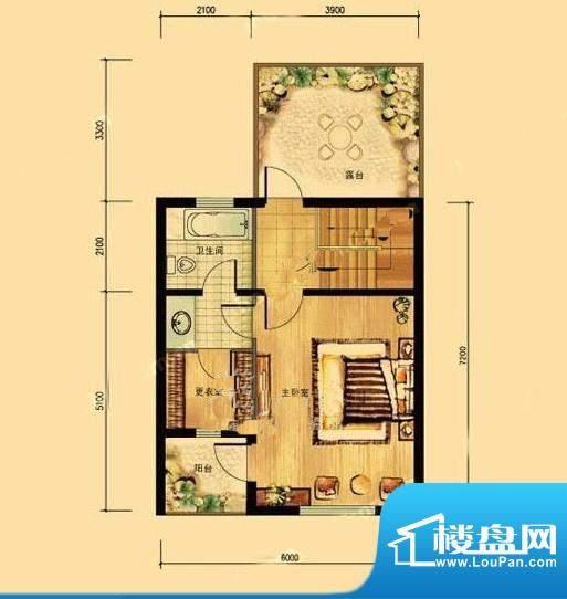 亲密别墅H4户型三层 1室1厅1卫面积:231.00平米