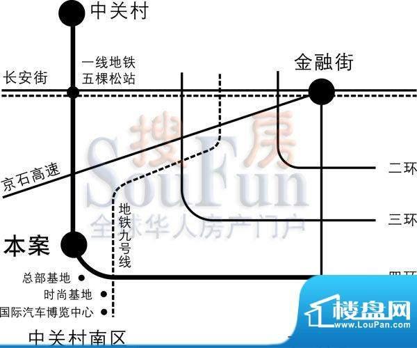 设计师广场交通图