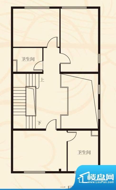 蝶泉花园联排二层 3室2卫面积:373.59平米