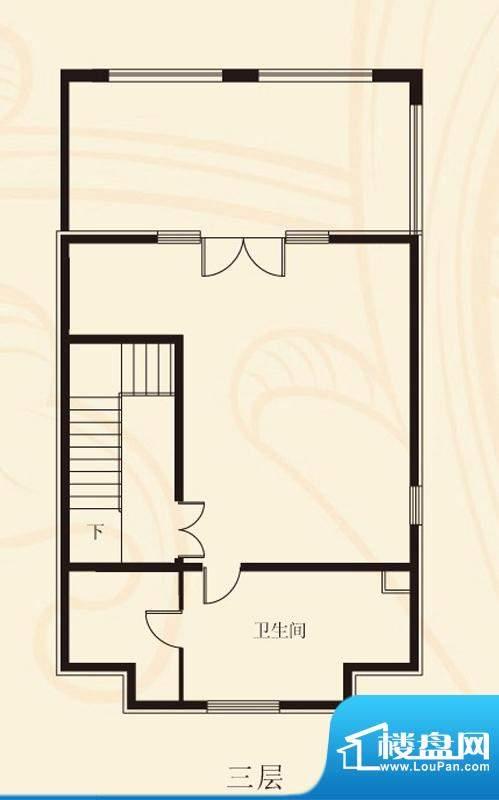 蝶泉花园联排三层 2室1卫面积:373.59平米