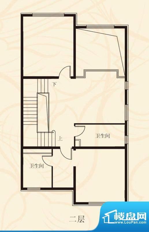 蝶泉花园双拼二层 3室2卫面积:396.83平米