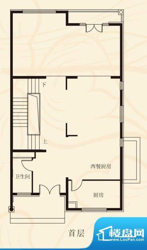 蝶泉花园双拼首层 1室2厅1卫1厨面积:396.83平米