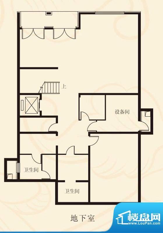 蝶泉花园独栋A2地下室 面积:676.51平米