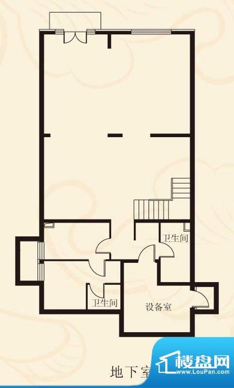 蝶泉花园独栋B2地下室 面积:446.05平米
