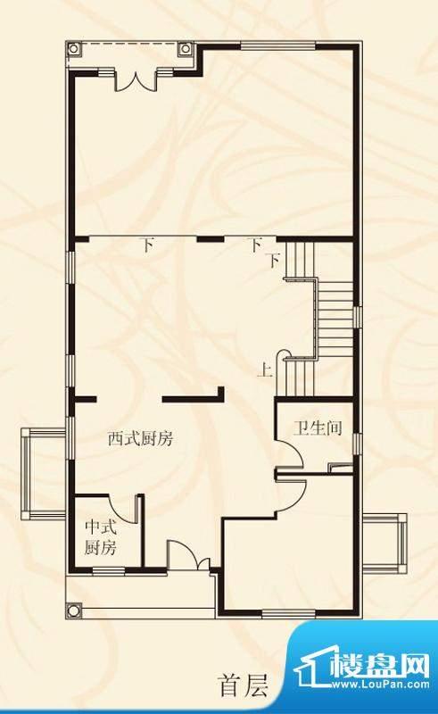 蝶泉花园独栋B2首层 面积:446.05平米