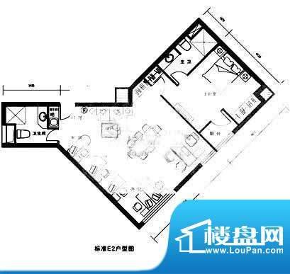 西贸国际·熙旺中心E1-E2户型图面积:125.78平米