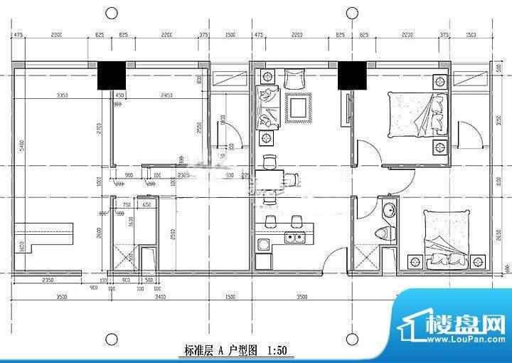 西贸国际·熙旺中心平面图 2室