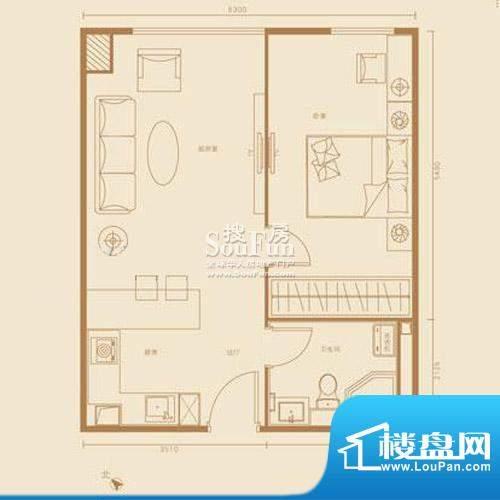 西贸国际·熙旺中心G户型 1室1面积:68.98平米