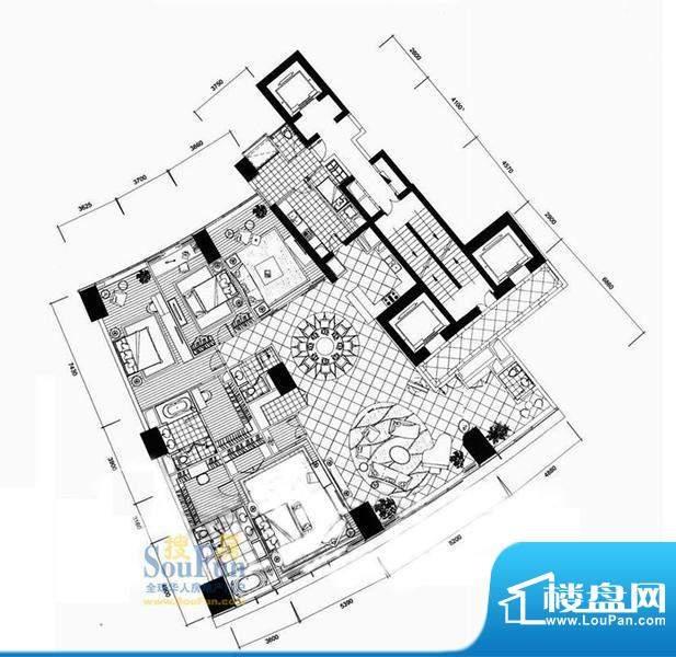 长安8号B7-39层(不含20层、37层面积:441.65平米