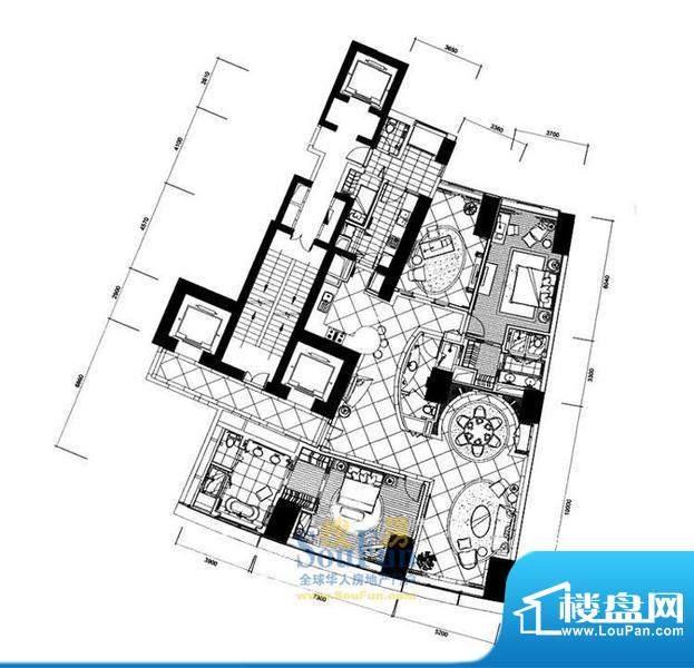 长安8号E7-39层(不含20层、37层面积:322.04平米