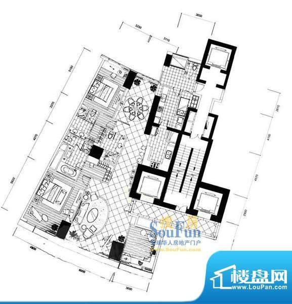 长安8号F7-39层(不含20层、37层面积:277.26平米