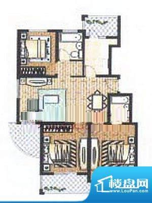 众旺苑户型图 3室2厅2卫面积:115.00平米